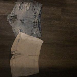 Shorts (jean & white)
